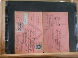 """80/455A  CARTE RECEPISSE GENT VIGNETTE """"ABSENT"""" - 1921-1925 Petit Montenez"""