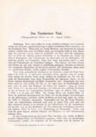 768 Kübler Tannheimer Tal Tannheim Nesselwängle Tirol Artikel Von 1898 !!                                           . - Revistas & Periódicos