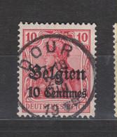 COB 3 Oblitération Centrale DOUR - Weltkrieg 1914-18