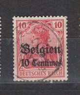 COB 3 Oblitération Centrale BASECLES - Weltkrieg 1914-18