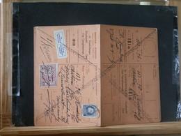 """80/456A  CARTE RECEPISSE GENT VIGNETTE """"SE PRESENTERA AU BUREAU"""" - 1921-1925 Petit Montenez"""