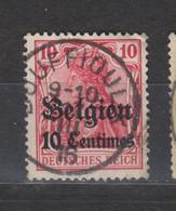 COB 3 Oblitération Centrale BOUFFIOULX - Weltkrieg 1914-18