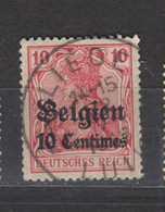 COB 3 Oblitération Centrale LIEGE - Weltkrieg 1914-18