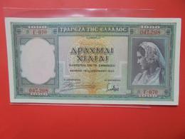GRECE 1000 DRACHMAI 1939 Circuler (B.20) - Grecia