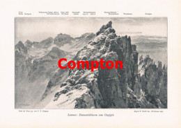 774 Christomannos Compton Latemar Trentino Dolomiten Südtirol Artikel 1900 !! - Revistas & Periódicos