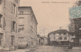 N°5075 R -cpa Montluel -l'entrée Par La Route De Lyon- - Montluel