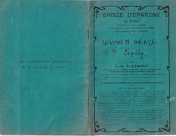 CAEN (Calvados 14) LIVRET DE CAISSE D'EPARGNE DE CAEN 1912-1913  Mlle LEPLEY - Noms Conseil D'Administration - Banca & Assicurazione