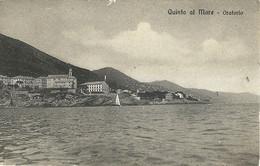 """9299"""" QUINTO AL MARE-ORATORIO """" VISTA DAL MARE - FOTO ORIGINALE-CARTOLINA SPEDITA 1926 - Genova (Genoa)"""