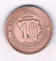 10 FENINGA  1998 BOSNIE EN HERZOGOVINA /7594/ - Bosnia And Herzegovina