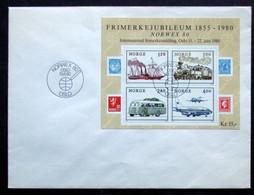 Norway 1980  NORVEX 80   MiNr.817-20   BLOCK 3   FDC     (lot 4507 ) - FDC