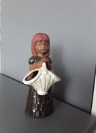 Old Vintage Scandinavian Sweden Studio Art Handmade Ceramic Folk Girl Figurine Figural Vase - Cerámica Y Alfarerías