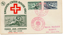 """FRANCE.1952.1  LETTRE SÉRIE  """"CROIX-ROUGE ET LA POSTE"""".METZ.""""LUMIERES DU MONDE"""". - Red Cross"""