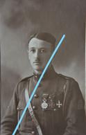 Photo Officier Lieutenant Oborski Chevron De Front IJZER  Belgische Leger 1914-18 ABL WO1 - War, Military