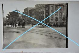 Photox4 DUISBURG 1920 Défilé Visite Ministre Louis Barthou Maréchal Pétain Ou Foch ?  ABL WO1 - Guerra, Militari