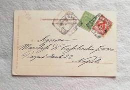 Cartolina Illustrata Monreale Per Napoli 08/05/1904 Affrancatura Mista Italia/Tunisia - Marcofilie