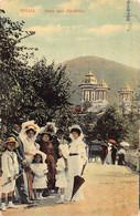 SINAIA  ( ROUMANIA )- Aleea Spre Manastire ( Animation )  Old Stamps Reverside - Romania