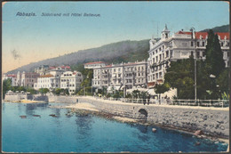 Südstrand Mit Hôtel Bellevue, Abbazia, 1913 - Divald & Monostory AK - Croacia