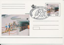 BELGIUM PS TINTIN WITH COMMEMORATIF CANCELLATION - Postcards [1951-..]