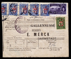 A6798) Osmanisches Reich Türkei Paketkarte N. Darmstadt - Covers & Documents