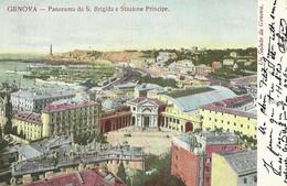 "9304"" GENOVA-PANORAMA DA S. BRIGIDA E STAZIONE PRINCIPE-UN SALUTO DA GENOVA ""  - FOTO ORIGINALE-CARTOLINA SPEDITA - Genova (Genoa)"