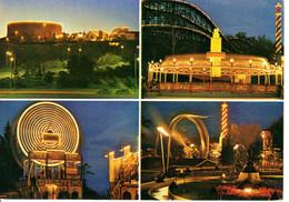 Finlande Helsinki Helsingfors Linnanmaki Borgbacken Parc Attraction Manege Roue Nuit Night Lumiere Carrousel - Finlandia