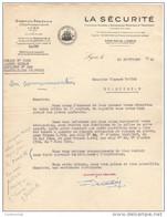 """69 LYON COURRIER 1945 Cie ASSURANCES MARITIMES & TERRESTRES """" LA SECURITE """"   / T2 - Banca & Assicurazione"""