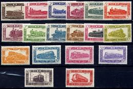 Belgien Mi. EPM 278/295 TR 304/320 Belgische Lokomotiven **/MNH - 1942-1951