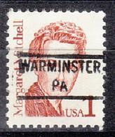 USA Precancel Vorausentwertung Preo, Locals Pennsylvania, Warminster 841 - Prematasellado