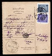 A6801) Osmanisches Reich Türkei Paketkarte 1926 M. 5 Und 10 Piaster - Covers & Documents