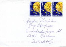 LUXEMBOURG. N°1499 De 2001 Sur Enveloppe Ayant Circulé. L'Euro. - Münzen