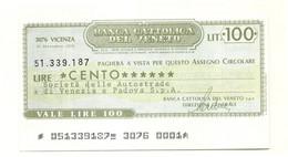 1976 - Italia - Banca Cattolica Del Veneto - Società Delle Autostrade Di Venezia E Padova S.p.A. - [10] Cheques Y Mini-cheques