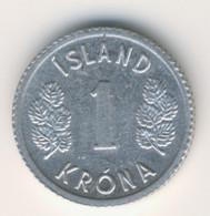 ICELAND 1980: 1 Krona, KM 23 - IJsland