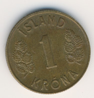 ICELAND 1969: 1 Krona, KM 12a - Islanda