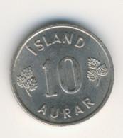 ICELAND 1965: 10 Aurar, KM 10 - Iceland