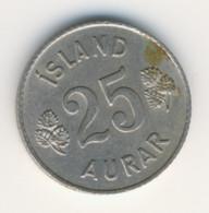 ICELAND 1959: 25 Aurar, KM 11 - Iceland