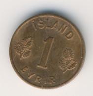 ICELAND 1958: 1 Eyrir, KM 8 - Iceland