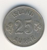 ICELAND 1954: 25 Aurar, KM 11 - Iceland