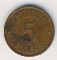 ICELAND 1942: 5 Aurar, KM 7.2 - Iceland