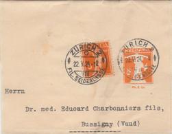 Suisse Entier Postal Bande Mathys & Schaaff ZÜRICH 22/5/1924 à Bussigny Vaud - Pli Vertical - Ganzsachen