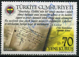Turkey 2007 - Mi. 3571 O, 100th Foundation Anniversary Of Fenerbahce Spor Club | Charter - Used Stamps