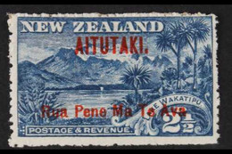 """1903-11 2½d Deep Blue, """"Ava"""" Without Stop, SG 3a, Fine Mint, Signed Holcombe. For More Images, Please Visit Http://www. - Aitutaki"""