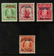 1911-16 KEVII Opt'd Complete Set, SG 9/12, Very Fine Mint (4 Stamps) For More Images, Please Visit Http://www.sandafayre - Aitutaki