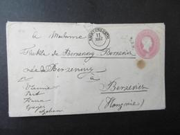 Baden Mi. GA U 12 DK Eichtersheim über Württemberg 1868 Mit Vielen Stempeln Nach Ungarn - Selten - Baden