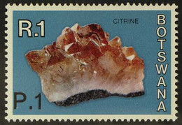"""1977 1p On 1r """"Citrine"""" With Surch At Bottom Left, SG 379a, Never Hinged Mint For More Images, Please Visit Http://www.s - Botswana (1966-...)"""