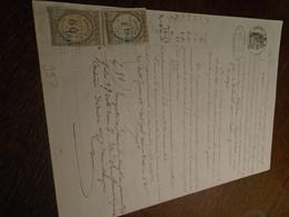 1874- PUY DE DOME(ISSOIRE) Acte NOTARIAL + 2 TP / DIMENSION+ OBL/DECIMAL + Tampon A SEC +FILIGRAME - Steuermarken