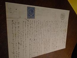 1887 - PUY DE DOME(ISSOIRE) Acte NOTARIAL + Timbre COPIES + OBL/DECIMAL + Tampon A SEC +FILIGRAME - Steuermarken