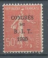 France YT N°264 Semeuse Lignée Surchargé Congrès Du B.I.T. 1930 Neuf ** - Ungebraucht