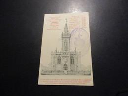 CP LUNÉVILLE . Façade De La Future Église Bienheureuse Jeanne D'Arc + Cachet - Luneville