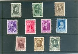 1941 BELGIQUE Y & T N° 573 à 582 ( * ) - Unused Stamps