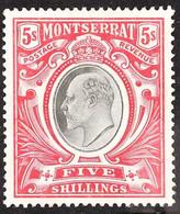 1903 5s Black & Scarlet, SG 23, Very Fine Mint, Fresh. For More Images, Please Visit Http://www.sandafayre.com/itemdetai - Montserrat